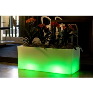 Lit Trough Planter